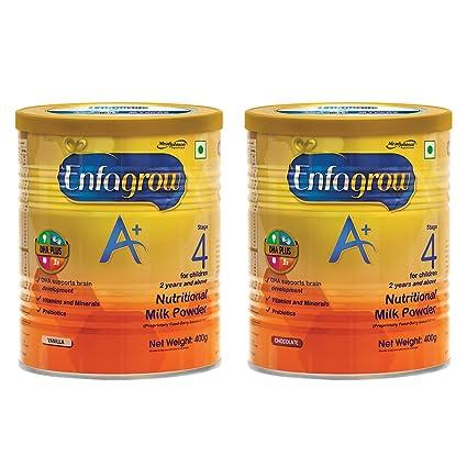 Enfagrow Health & Nutrition Drink Combo (Enfagrow A+ Chocolate 400g, Vanilla 400g)