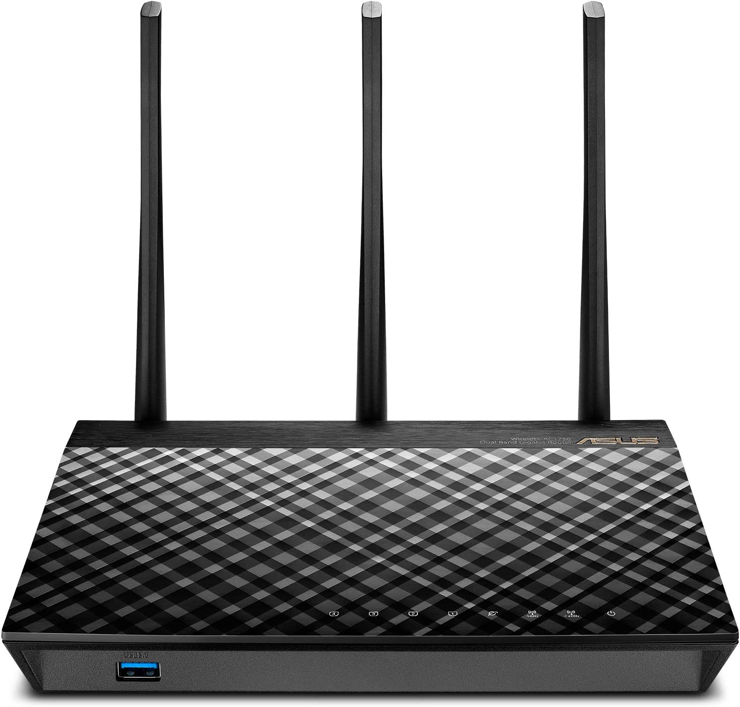 Asus Dual Band 3x3 Ac1750 Wifi 4 Port Gigabit Router With Speeds Up To 1750mbps Airadar To Strengthens Wireless Connections Via High Powered Amplification Beam Forming 2x Usb 2 0 Ports Rt Ac66u Computers