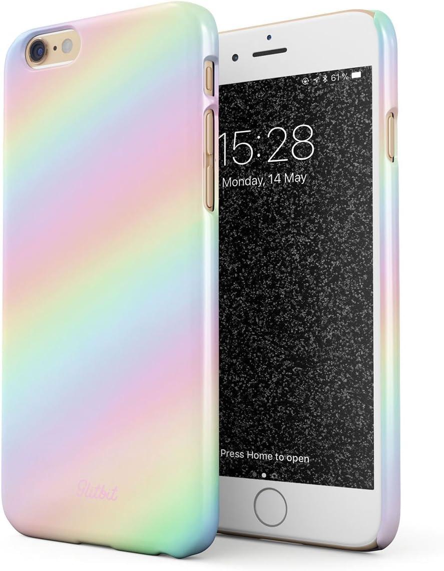 Glitbit Cover per iPhone 6 / 6s Case Pastel Rainbow Unicorn Colors Ombre Pattern Holographic Tie Dye Tumblr Kawaii Arcobaleno Colorate Sottile Guscio ...