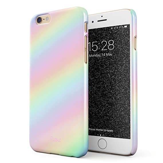 new products ecdb1 407f1 Amazon.com: Glitbit Compatible with iPhone 6 / 6s Case Pastel ...