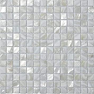 Amazoncom Afsj Mother Pearl Square Shell Mosaic Tile Kitchen