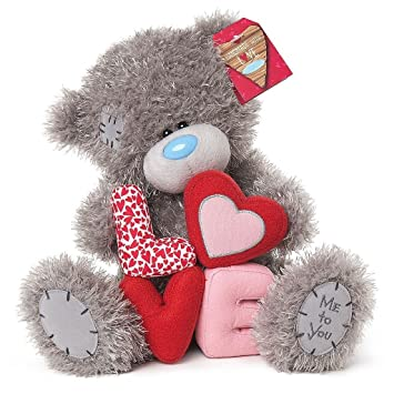 me to you 10 valentines plush love letters romantic gift tatty teddy bear - Peluche Me To You