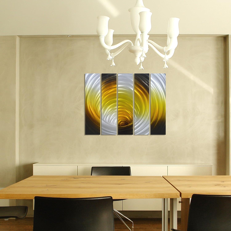 Amazon.com: Pure Art Vortex in Gold - Abstract Metal Wall Art Decor ...