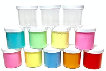 slime storage jars 6 oz (in 6, 12, and 18 packs) - clear all purpose  containers - for all glue putty making - art, craft and hobby storage  containers