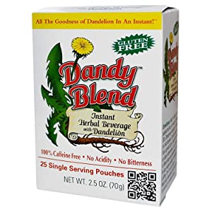 Dandy Blend, Instant Dandelion Beverage, 25 Single Serving Pouches, 2.5 oz