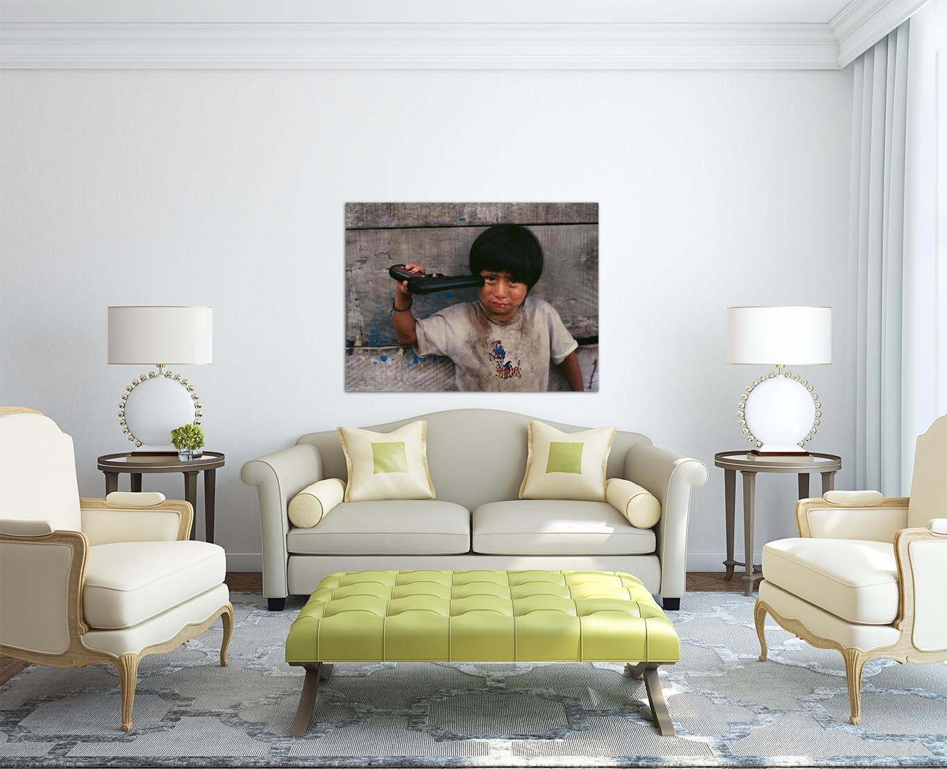 Amazon.de: Steve McCurry - Peru Rahmen MDF-Rand schwarz 100 x 75 cm