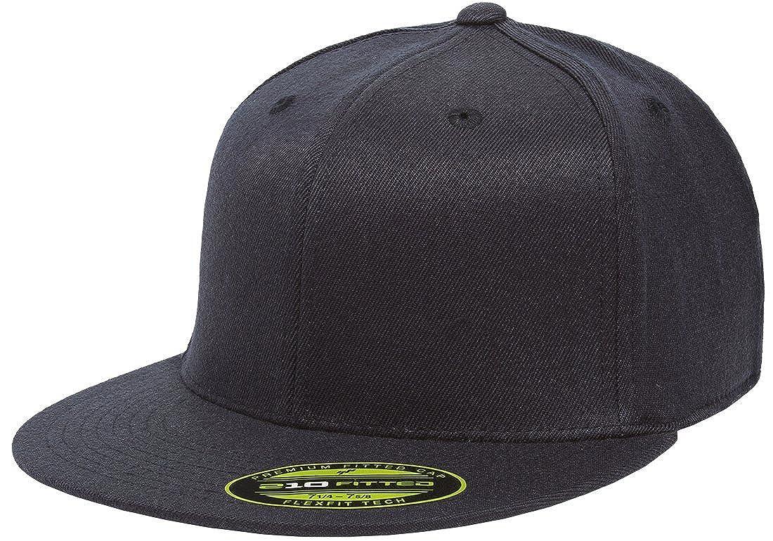 Amazon.com  Flexfit Premium 210 Fitted Flat Brim Baseball Hat  Clothing 9a1e4bed4bd