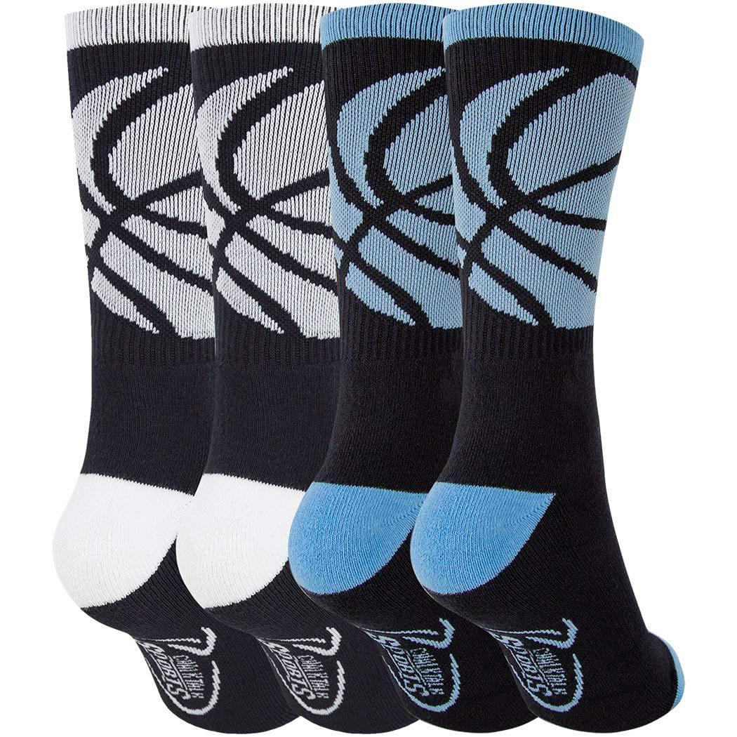 Multiple Designs /& Colors Basketball Woven Mid-Calf Sock Sets
