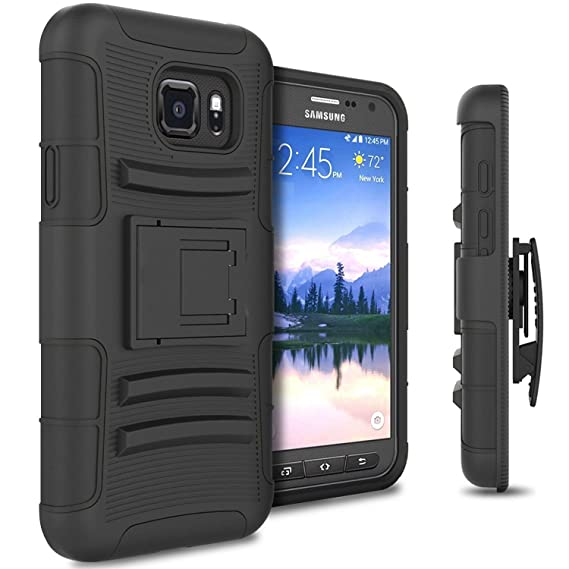 Active Samsung Galaxy S7 defender Series Belt Clip Holster Slim Hybrid Armor Case
