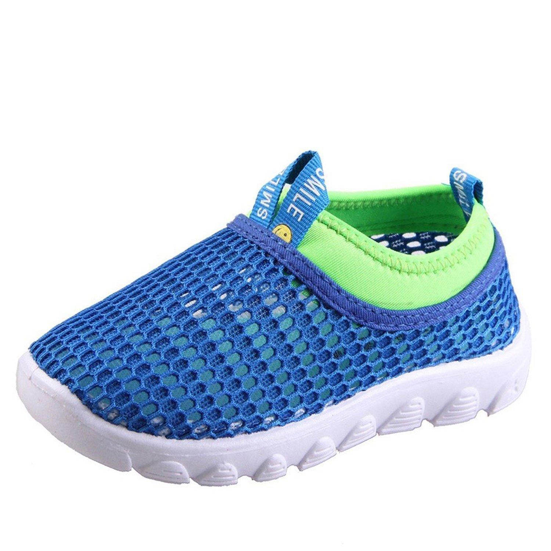 CIOR Kids Mesh Light Weight Sneakers Running Shoe For Boy's Girl's Footwear,Blue03,30