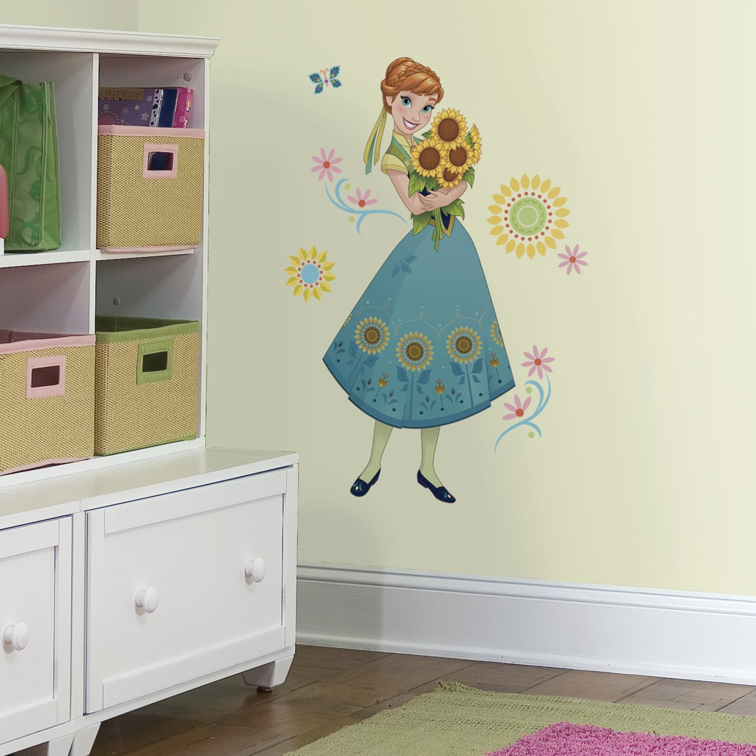 RoomMates RMK3016GM Disney Frozen Fever Anna Peel And Stick Giant Wall  Decals     Amazon.com