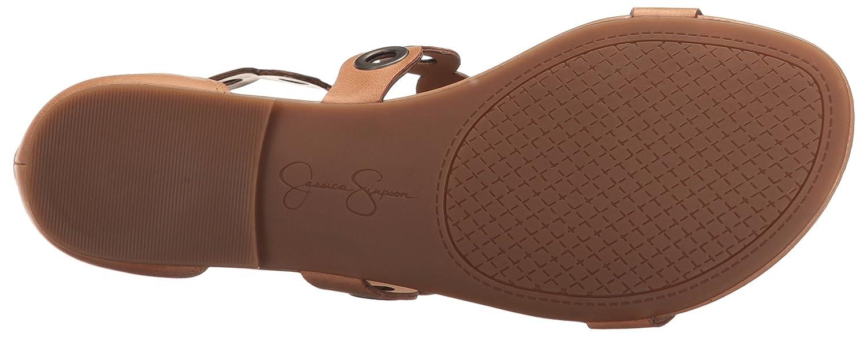 Jessica Simpson Frauen Frauen Frauen Flache Sandalen Lederfarben 5de8d1
