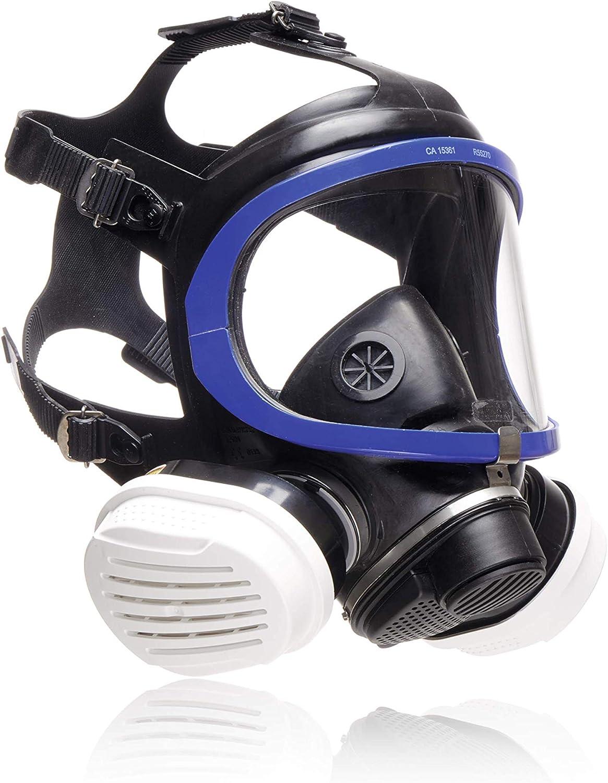 Dräger X-plore 5500® Máscara Completa de protección con filtros reemplazables A2 P3 para Trabajos de Pintura, Barniz, Bricolaje y contra el Polvo