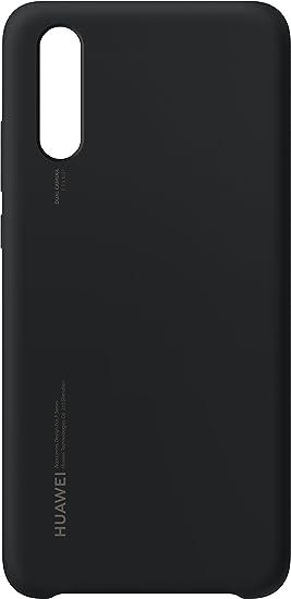 Huawei Officiel Coque semi-rigide en silicone pour Huawei P20 - Noir