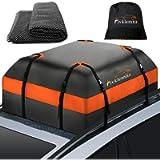 Fivklemnz Car Roof Bag Cargo Carrier, 15 Cubic Feet Waterproof Rooftop Cargo Carrier with Anti-Slip Mat + 8 Reinforced…