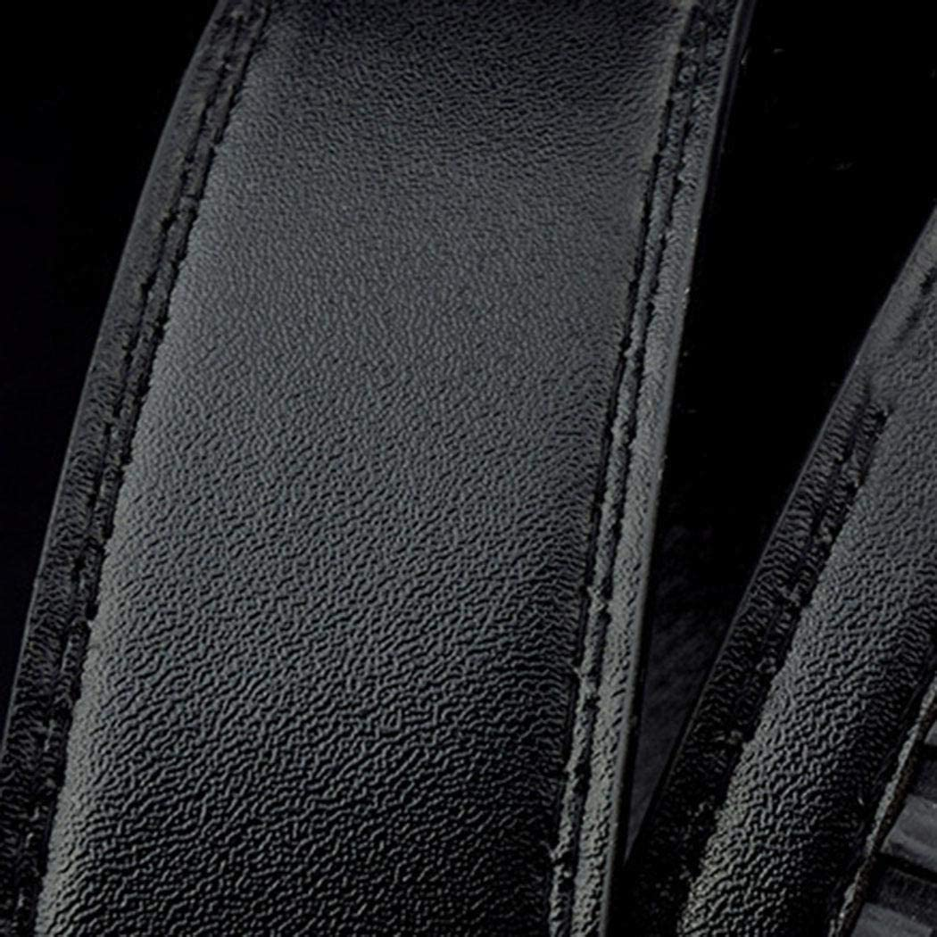 Chiak Men Black Automatic Buckle Belts Fashion Waist Strap Belt Waistband Belts