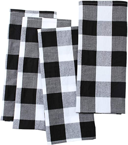 Cheap Kitchen Terry Tea Towels 100/% Cotton Chocolate Brown /& White Pack of 10