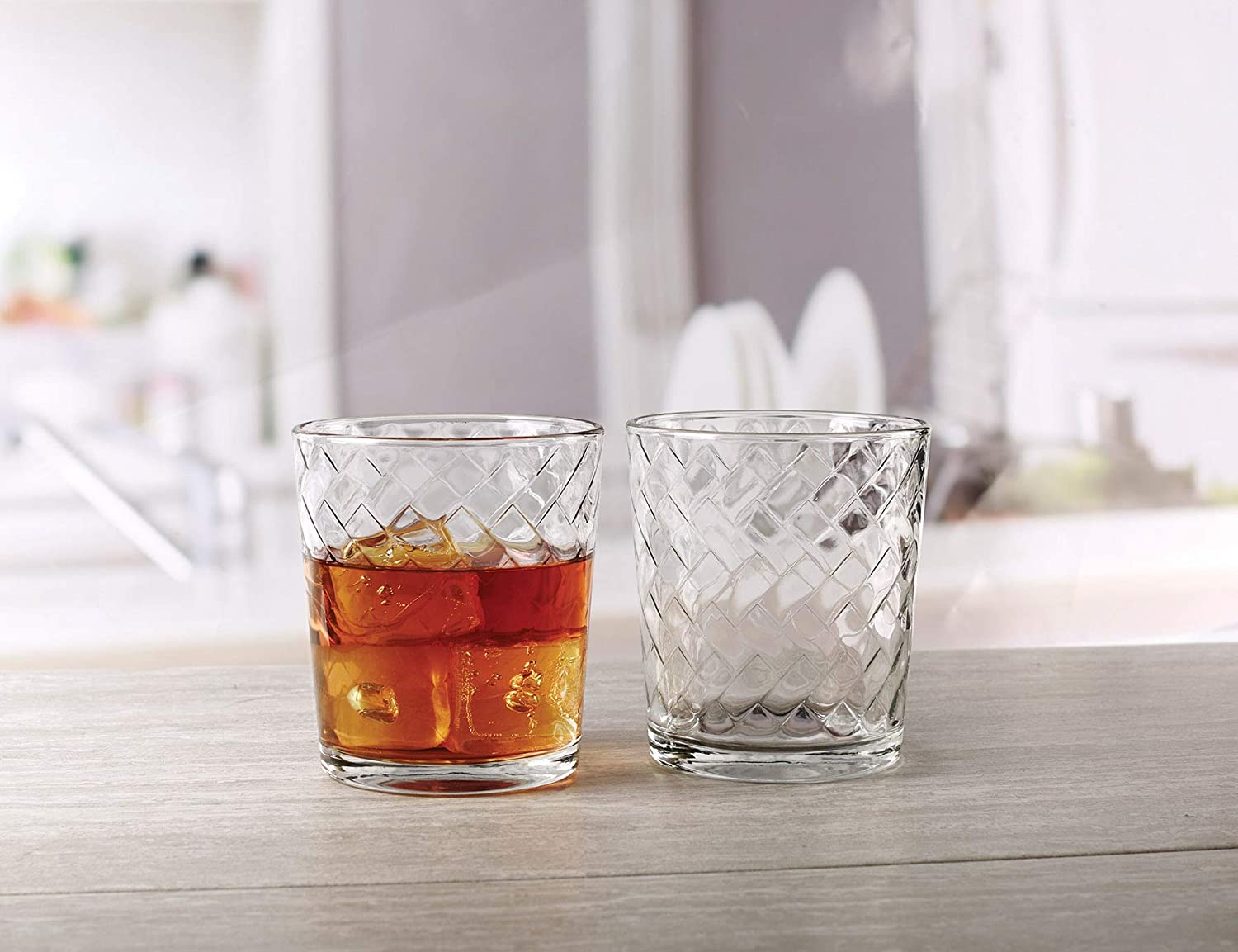 6-16oz and 6-13oz Double Old Fashioned Whiskey Glass 44544 Circleware Hive Huge Set of 12 Drinking Glasses
