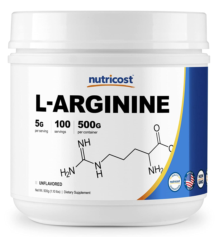 Nutricost L-Arginine (500 Grams) - Pure L-Arginine Powder - 5000mg Per Serving; 100 Servings by Nutricost B00WISWRLW