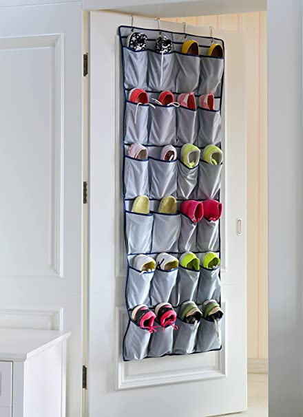 Door Shoe Organizer Closet Door Shoe Rack Top Quality 420D Oxford Fabric Hanging  Shoe Organizer Shoe