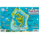 Bora Bora Map & Guide to the Polynesian Reef Franko Maps Laminated Fish Card