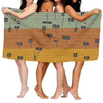 Amazon.com: Bath Towels, Geometric Figure Stripes Super Soft Ultra ...