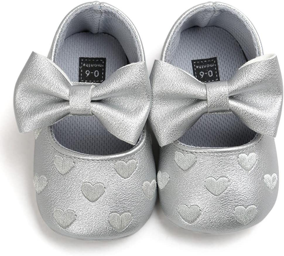 6-12 Months, Red Shoes For 0-18 Months Kids squarex Baby Girl Bowknot Leather Shoes Sneaker Anti-slip Soft Sole Toddler