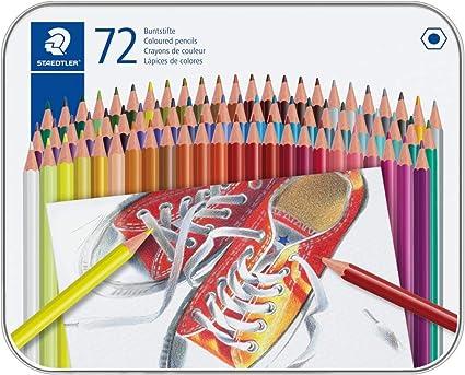 STAEDTLER 175M72 ST Lápices de colores con forma hexagonal, Caja con 72 colores variados: Amazon.es: Oficina y papelería