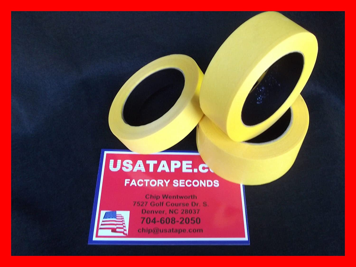 Lot Of 24 Rolls 2 X60 Yrds Fine Edge Yellow Painters Masking Tape