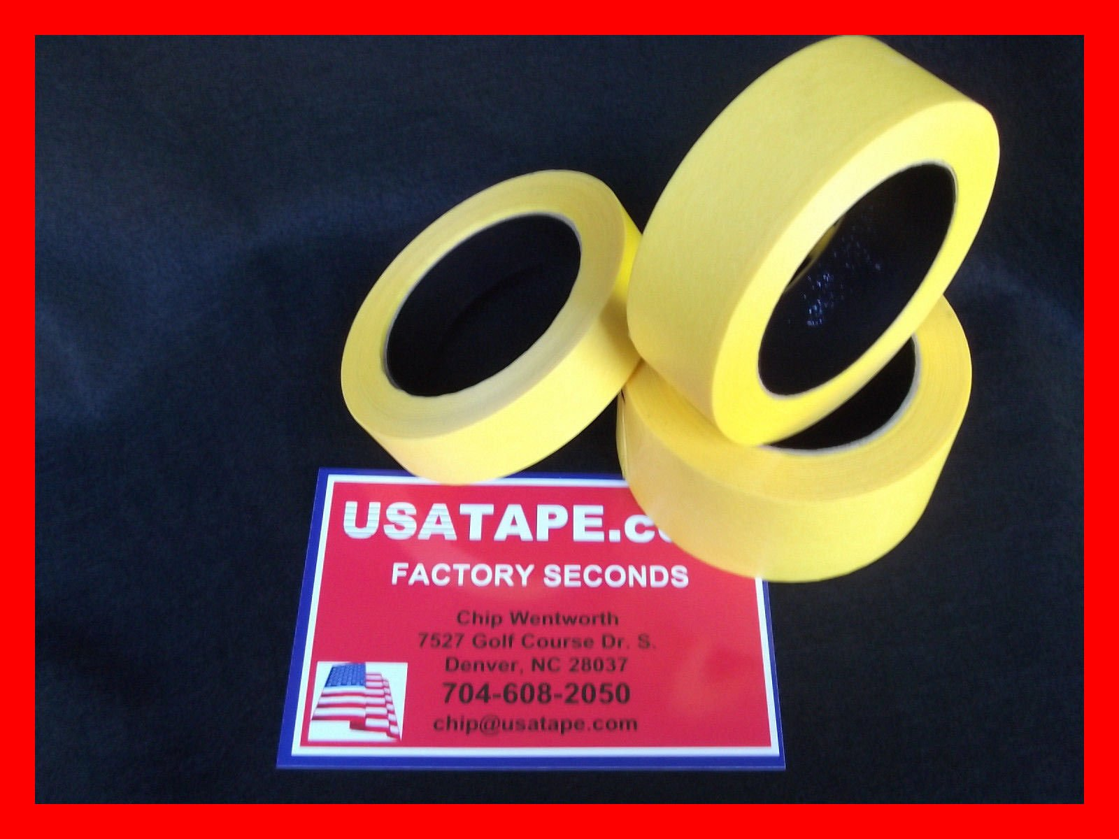 Lot Of 24 Rolls 2'' X60 Yrds Fine Edge Yellow Painters Masking Tape by USA Tape