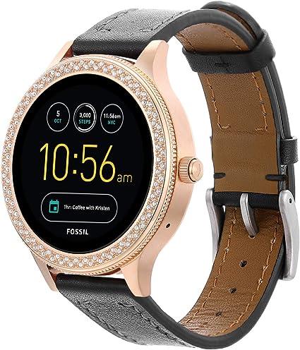 Amazon.com: Correa de reloj de piel de grano completo para ...