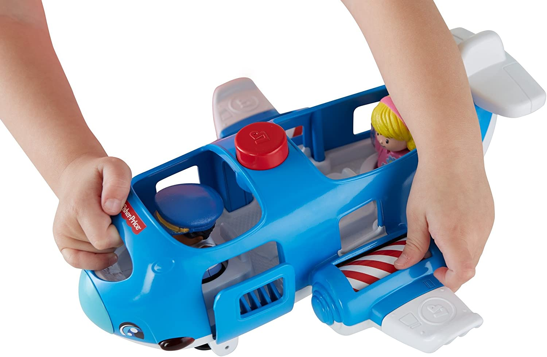 Little People viaggiano insieme aereo giocattolo interattivo Fisher-Price FKC78/