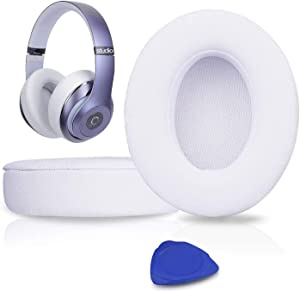 Professional Replacement Ear Pads Cushions, Earpads Compatible with Beats Studio 2.0 & 3 Wired/Wireless with Soft Protein Leather/Noise Isolation Memory Foam/Strong Adhesive Tape