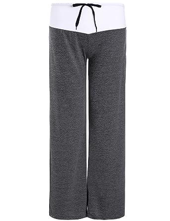 Amazon.com: Bangerdei - Pantalones de yoga sueltos para ...