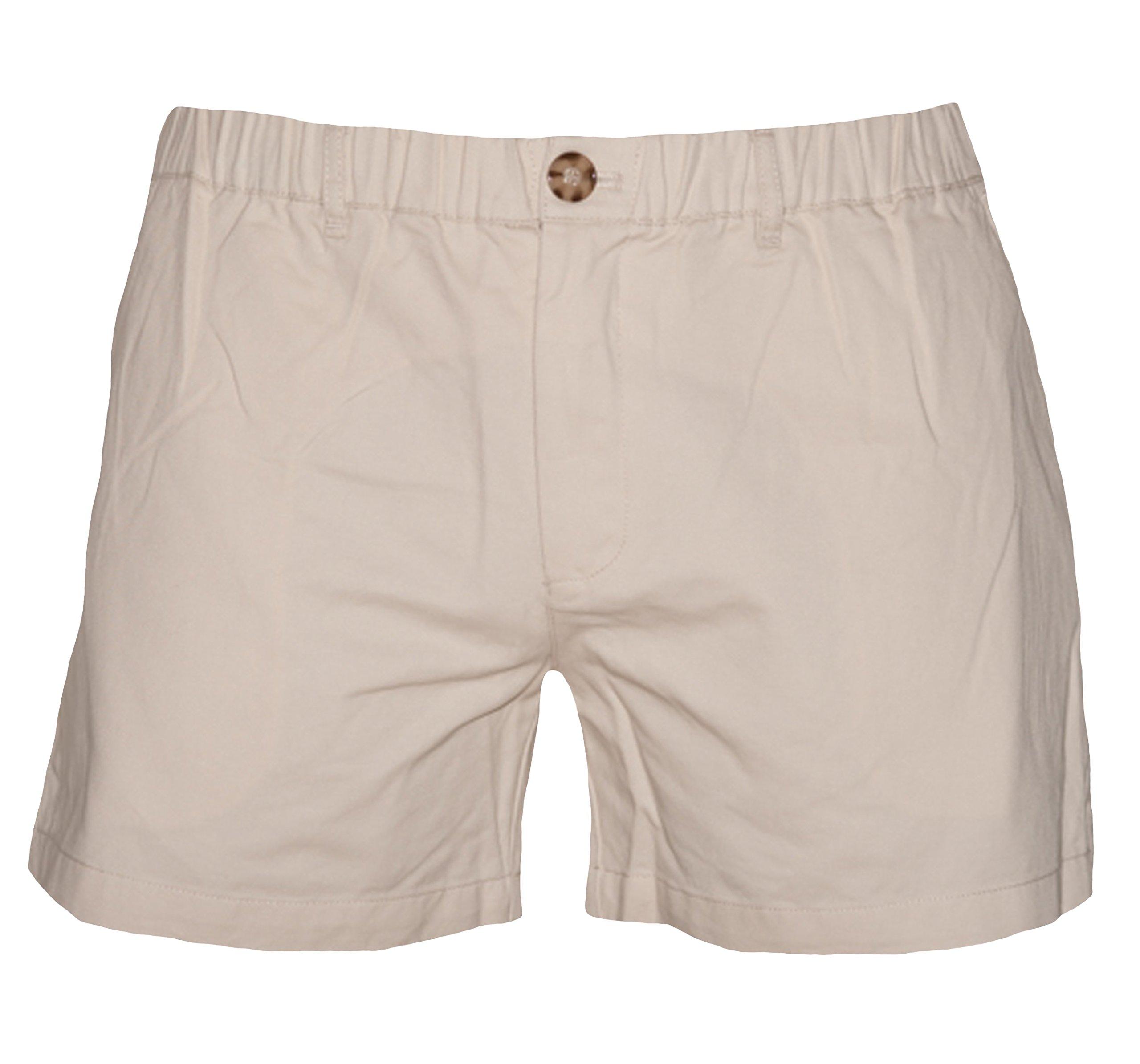 Meripex Apparel Men's 5.5'' Inseam Elastic-Waist Shorts (Small, Sandstone)