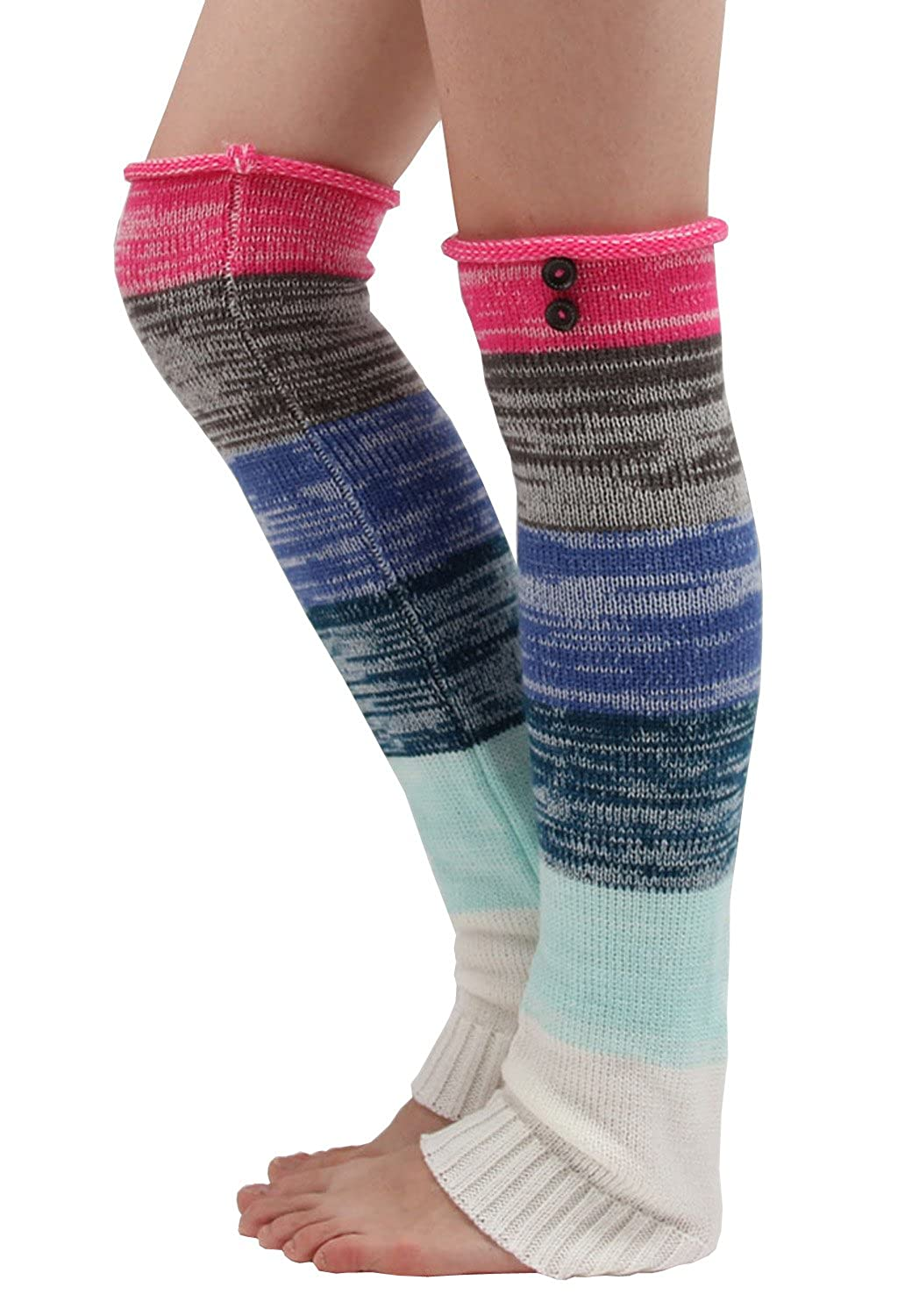 Boot Socks Leg Warmers Knee High Winter Legwarmers Women Crochet Socks Generic