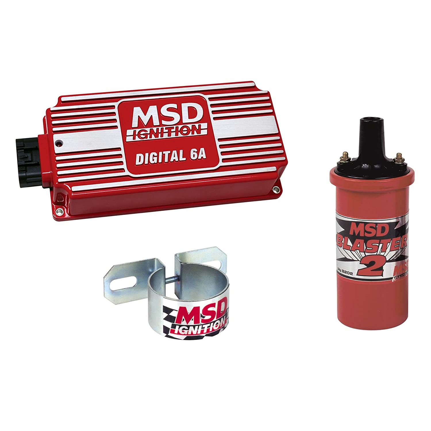 Msd 6201 K Ignition Kit Digital 6a Box Blaster 2 Coil Ford 460 Distributor To 6al Wiring Universal Bracket Automotive
