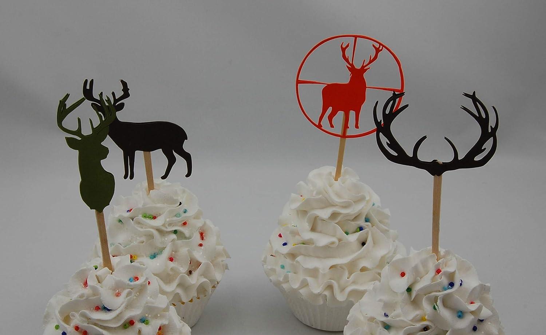 Deer cupcake toppers Set of 12