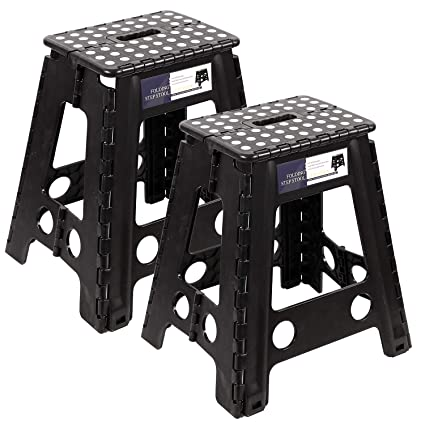 Admirable Redcamp 11 13 15 18 Inches Folding Step Stool For Adults And Kids Heavy Duty Collapsible Plastic Step Stool With Handle 18 Inches 2 Pack Frankydiablos Diy Chair Ideas Frankydiabloscom