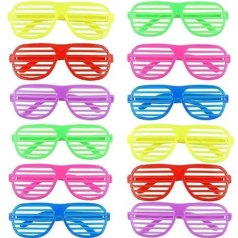 Ouinne 12 Pares Fiesta Gafas, Juguete Gafas de Sol Disfraz ...