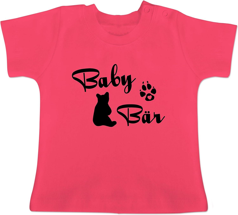 Baby T-Shirt Kurzarm Shirtracer Baby B/är Lettering Partner-Look Familie Baby