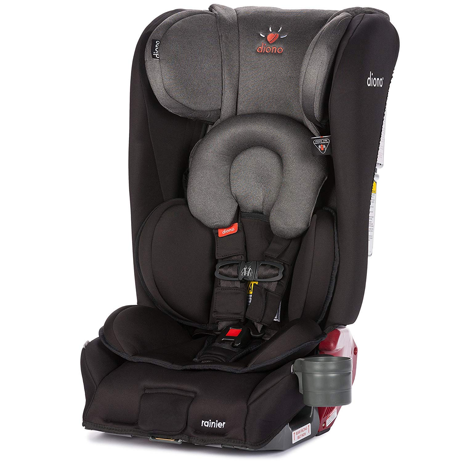 Dino Car Seat >> Diono Rainier All In One Convertible Car Seat For Children From Birth To 120 Pounds Black Mist