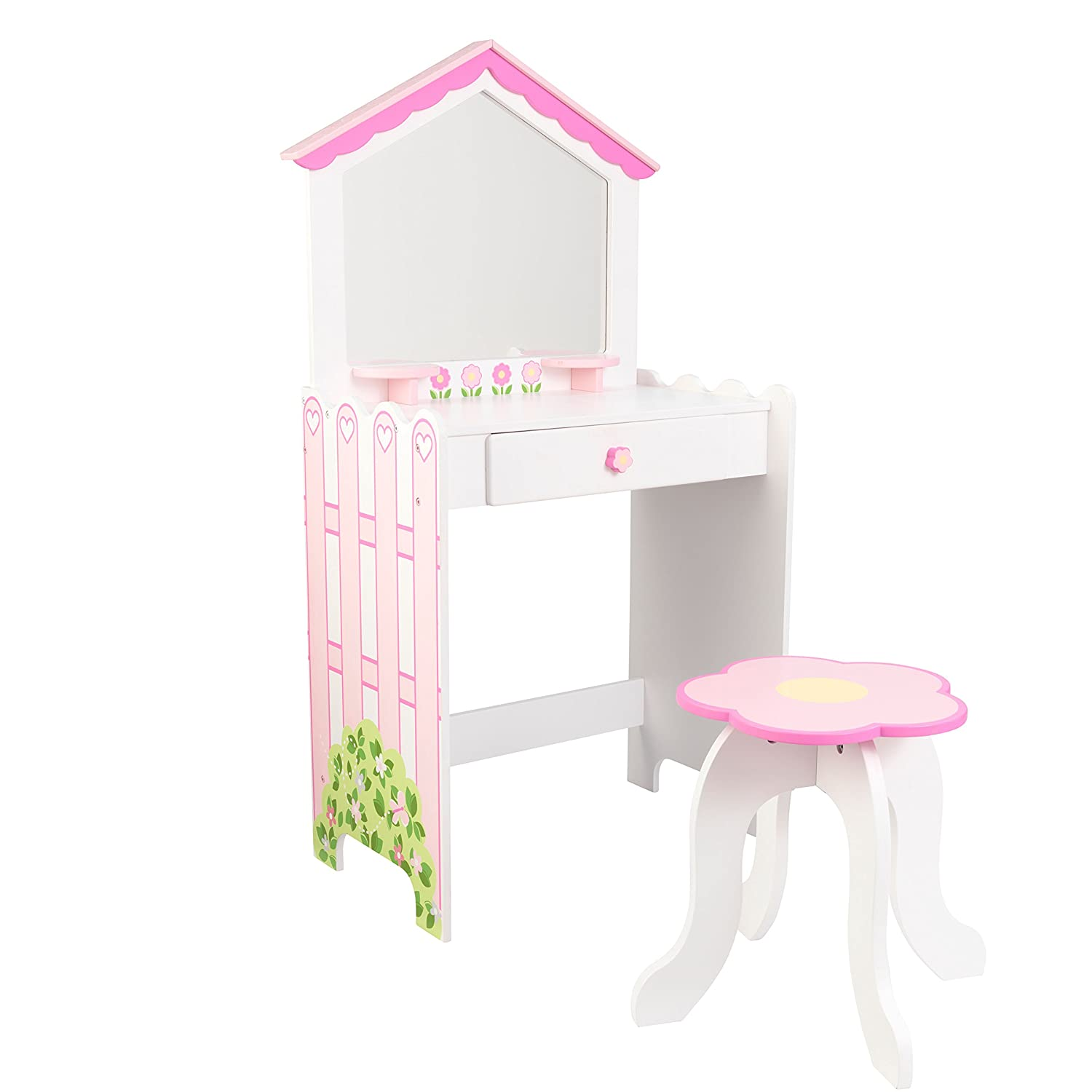 Dollhouse cottage vanity and stool