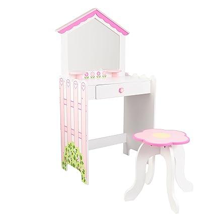 Amazon Com Kidkraft Vanity Stool Vanity Toys Games