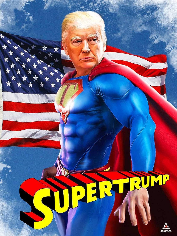 Amazon Com 777 Tri Seven Entertainment Donald Trump Poster Supertrump Funny Parody Wall Art Print 18x24 Multi Color Posters Prints
