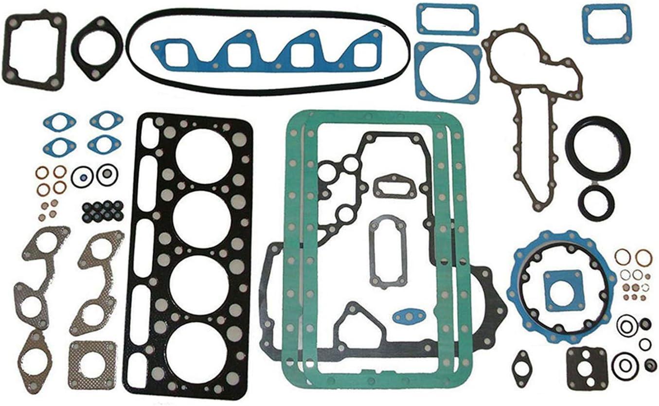 Notonmek Overhaul Rebuild Kit Fits for Bobcat Excavator 743 733 Kubota Engine V1702 V1702B KH90