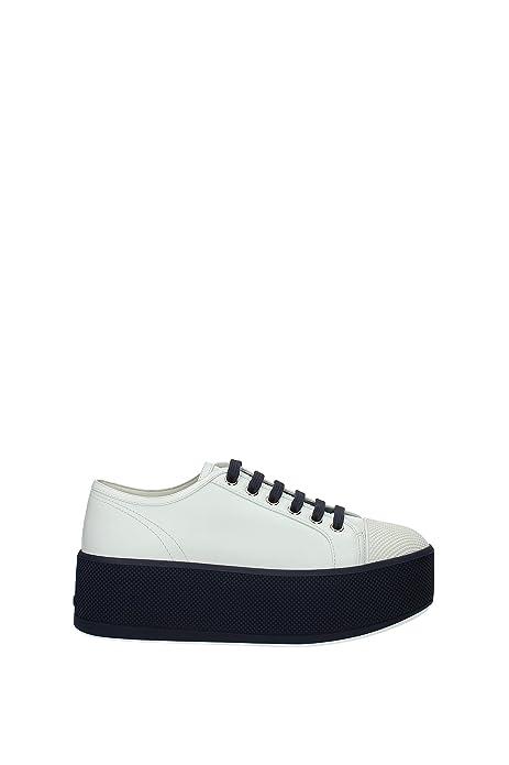 Pelle3e6266biancobaltico36 Prada Donna EuAmazon Sneakers it QtdCshrx
