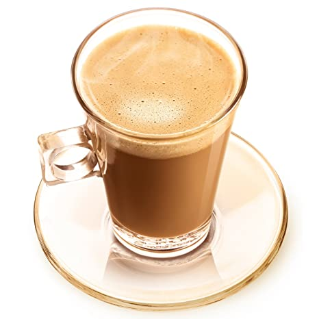 Nescafé Dolce Gusto Cortado Espresso Vaso, Taza y Plato, Paquete de 2