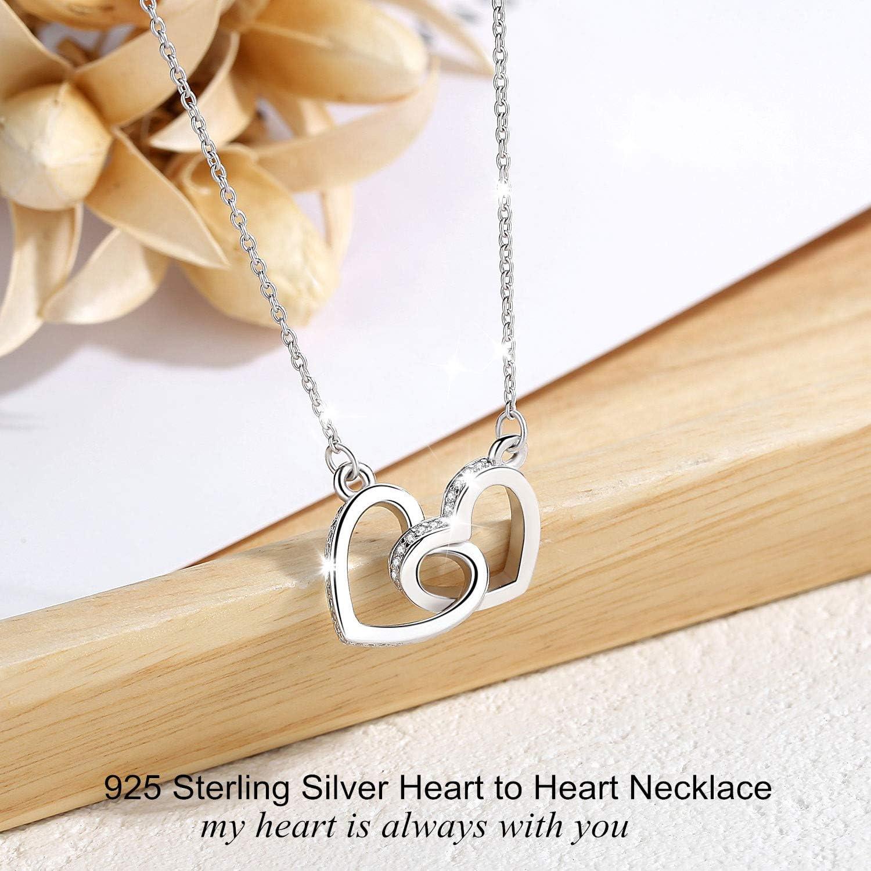 le Meilleur Cadeau pour Petite Amie CELESTIA Argent Sterling 925 Symbole de linfini C/œur Amour /Éternel Collier Pendentif 46CM Cha/îne /épouse et M/ère