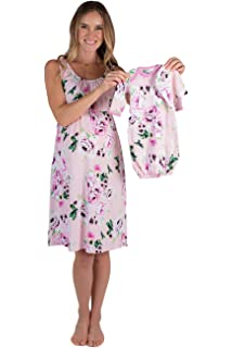 66263dd3e9fca Baby Be Mine Maternity/Nursing Nightgown & Matching Baby Layette Set,  Newborn, Nightdress